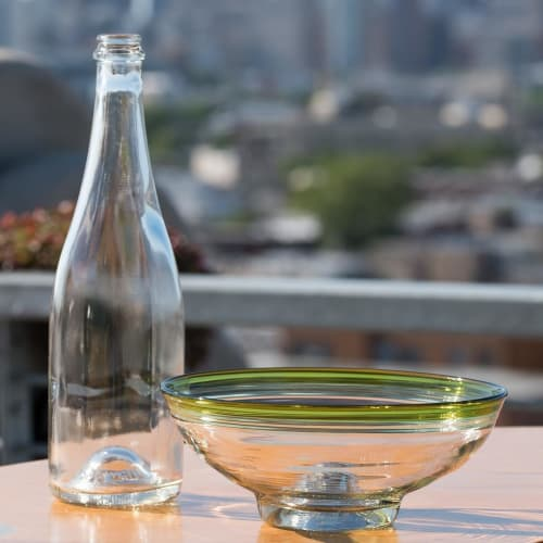 Tableware by Remark Glass seen at Philadelphia, Philadelphia - Serving Bowl and Wine Bottle