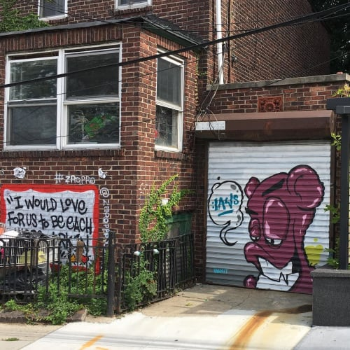 Street Murals by BëkiT seen at Private Residence, Queens - Mural
