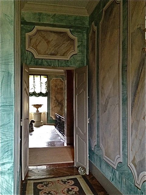 Murals by Kari Serrao seen at Private Residence, Toronto - French Chateau
