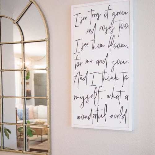 Art & Wall Decor by Aedriel Moxley seen at Sarah Betsy's Home, Loveland - Custom Lettering