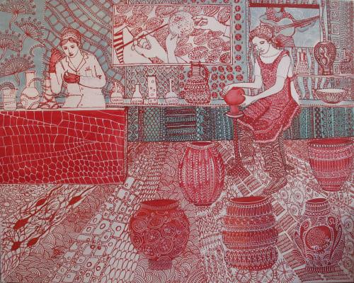 Tania Christoforatou - Murals and Paintings