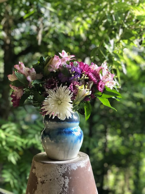 Vases & Vessels by Katie Meili Pottery seen at Private Residence, Asheville - Swelling Vase