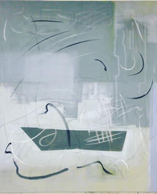 Paintings by Mario Nubauer seen at Zum Roten Bären, Wien - Abstract Painting
