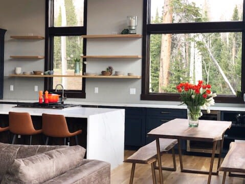 Furniture by Big Tooth Co seen at Private Residence, Silverthorne - Ash Floating Shelves
