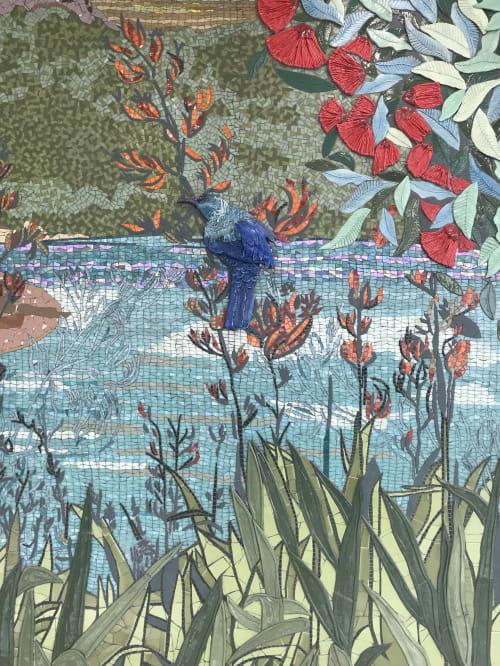 Public Mosaics by Jane du Rand seen at Auckland, Auckland - Landscape Mosaic Mural