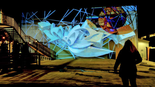 Street Murals by Alt Ethos seen at 321 Old Firehouse Alley, Fort Collins - Illuminous - Projection Mapped Mural