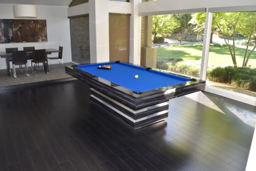 Furniture by B A Pool Tables seen at Private Residence, Los Angeles - Hermosa Modern Pool table
