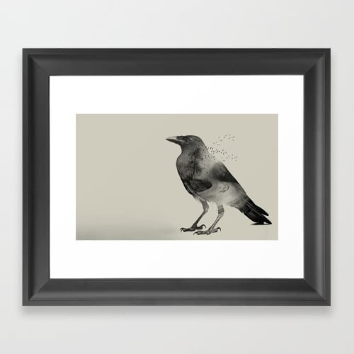 Wall Hangings by Vin Zzep - Independant Art seen at The Ramble Hotel, Denver - Raven Sky Framed Art Print