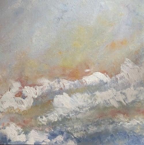 Paintings by Mireille Laroche seen at Creator's Studio, Ottawa - Ocean on Fire