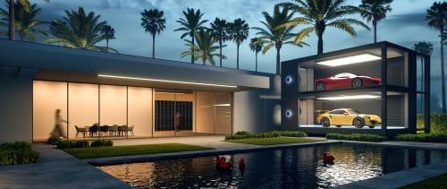 Architecture by SUPERFUTUREDESIGN* seen at Dubai, Dubai - SUPERCAR CAPSULE