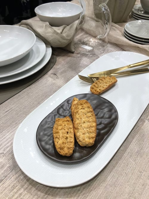 Ceramic Plates by Mieke Cuppen seen at Messe Frankfurt, Frankfurt am Main - CARVED tableware - Oval plate