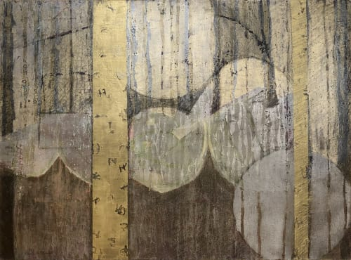 Paintings by Christine Averill-Green seen at Private Residence, New Canaan - Ancient Weaving Revisited