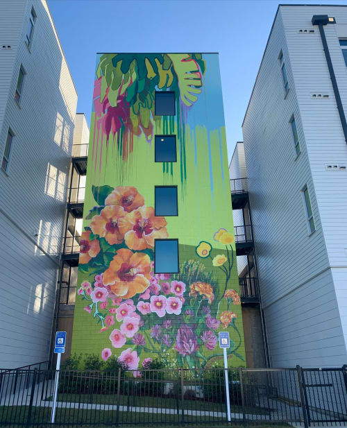 "Murals by Lacey Longino seen at Skylark, Atlanta - ""Them Pretty Weeds"""