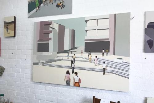 Paintings by Chalavie seen at Creator's Studio, Los Angeles - Utopia