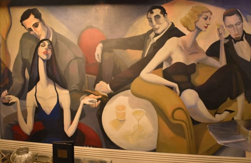 Murals by Nicolette Atelier seen at Society Lounge, Cleveland - Cafe Society Murals