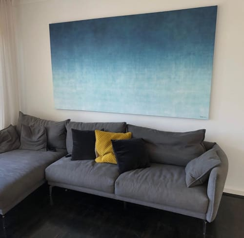 Paintings by George Hall Art seen at Private Residence, Collingwood - Gradual Tide