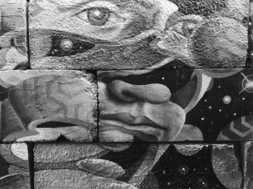 Street Murals by Chris Soria seen at The Well, Brooklyn - Escher's Bond of Union