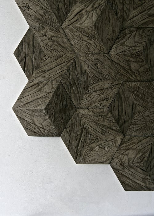Tiles by Giovanni Barbieri seen at Embassy Suites by Hilton The Woodlands at Hughes Landing, The Woodlands - Hive 3D Hexagonal Tiles
