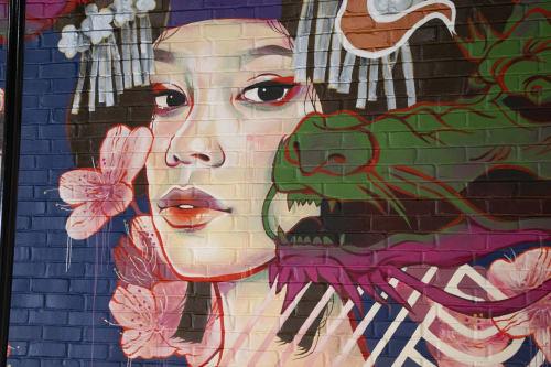 Murals by JUURI seen at City of Stillwater, Stillwater Regional Airport, Stillwater - Taema Of the Clouds
