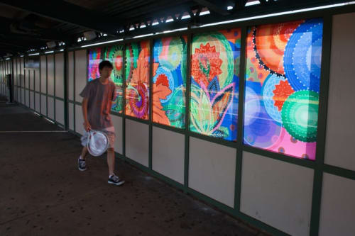 Murals by Amy Cheng seen at 25th Avenue Subway Station, Brooklyn, NY, Brooklyn - Rediscovery