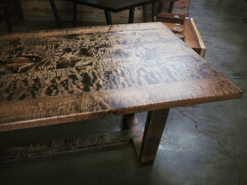 Tables by Black Rose WoodCraft seen at Portland, Portland - Tiger Maple Dining Table