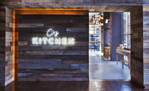 Chandeliers by Le Lampade seen at City Kitchen, New York - Chandeliers