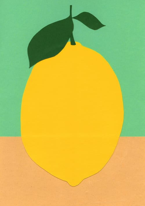 Art & Wall Decor by Rosi Feist seen at Private Residence, London - Lemon With Two Leaves & Mr. Dz. Breakfast