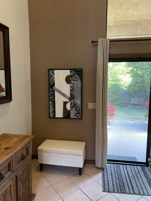 Paintings by Trent Thompson seen at Private Residence, Danville - Reflection in Pieces