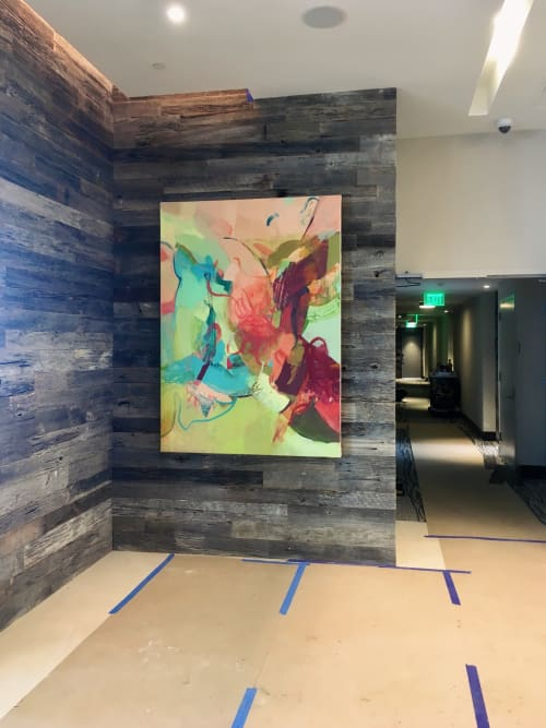 "Paintings by Nicole Mueller at Inner Harbor, Baltimore - ""Balancing Act"" at Harbor Point"