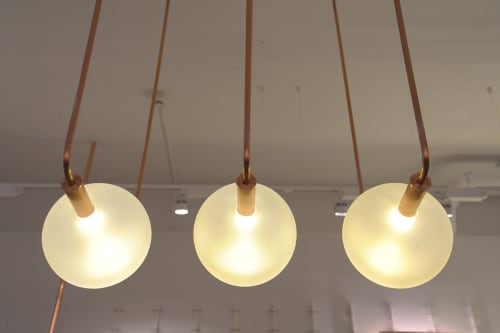Pendants by Studio Warm seen at Kit and ACe, London - Bespoke Lighting