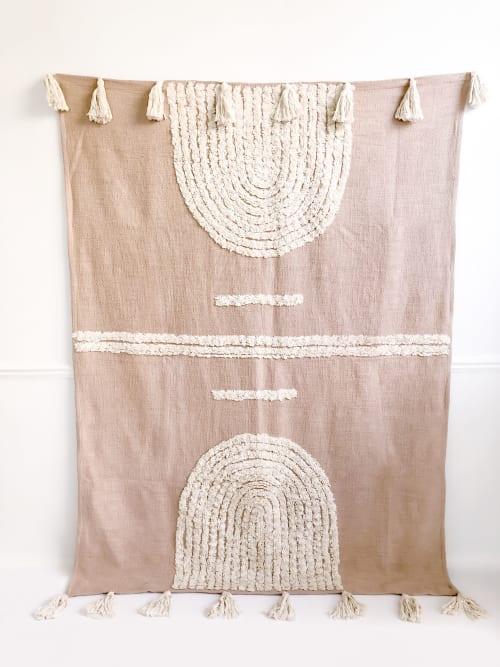 Linens & Bedding by Coastal Boho Studio seen at Creator's Studio, Dallas - Laguna Handwoven Throw Blanket