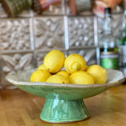 Tableware by Pine Zen Pottery seen at Private Residence, Ramsey - Pedestal Fruit Bowl