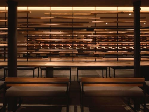 Lamps by Designer Chandeliers seen at Manhattan, New York - Completed Project Tsuru Ton Tan Udon Noodle Brasserie