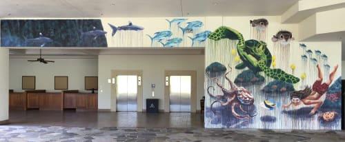 Murals by Kai'ili Kaulukukui seen at Sheraton Maui Resort & Spa, Lahaina - Ke Ola O Pu'ukeka'a