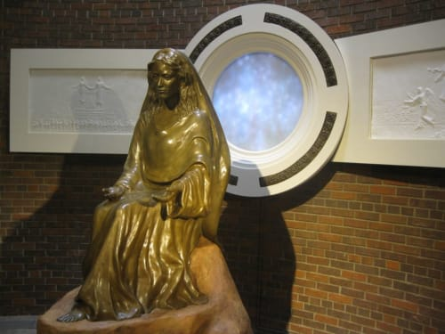 Sculptures by Glenn Terry seen at Mary, Mother of the Church, Burnsville - Marian Shrine