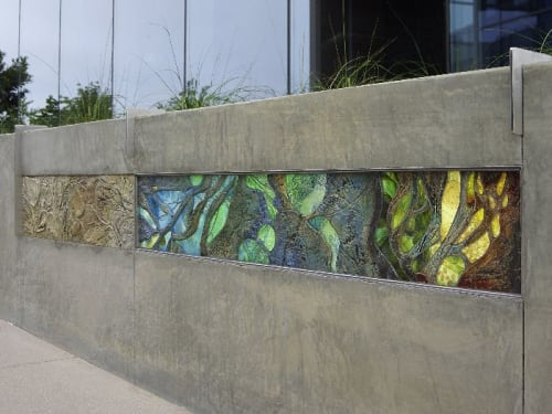 Sculptures by Betsy K. Schulz seen at Torrey Point, San Diego - Environmental Interplay in Ceramic and Glass