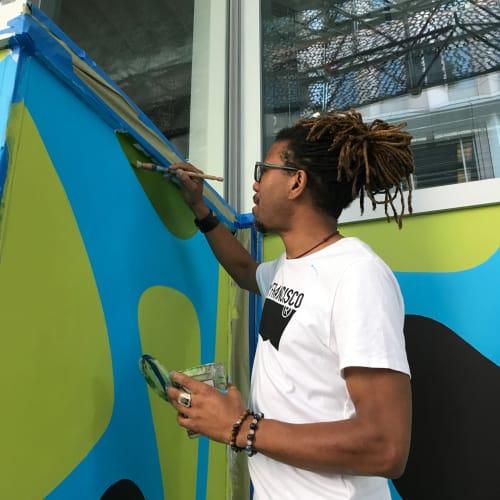"Street Murals by Mark Harris seen at Salesforce Transit Center, San Francisco - ""Havana"""