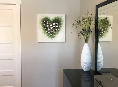 Paintings by Amanda Dagg seen at Private Residence, Yorkton - Spring Heart
