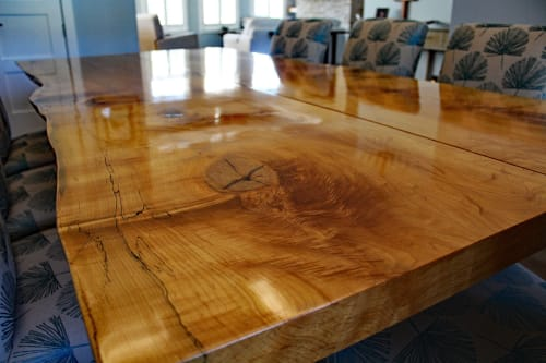 Tables by Justin Vancil Woodworking seen at Justin Vancil Woodworking, Carterville - Live edge maple dining table