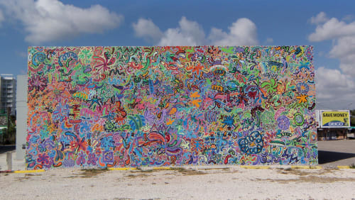 Murals by Gustavo Oviedo seen at Wynwood, Miami - Particle Candyland