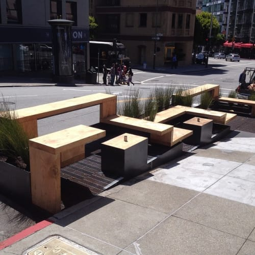 Furniture by Jeff Burwell seen at Réveille Coffee Co., San Francisco - Parklet