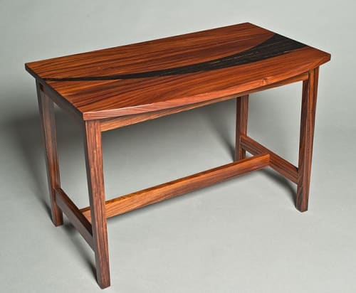 Tables by David Kellum Furniture seen at Private Residence - Port Townsend, WA, Port Townsend - Rosewood, ebony inlay nesting tables and end table