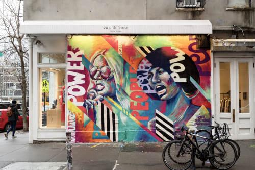 Murals by Bianca Romero seen at rag & bone, New York - Bianca Romero - Rag and Bone Store - Power to the People Mural