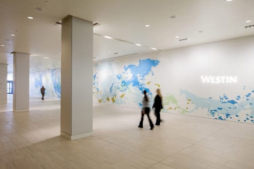 Murals by Mindy Bray seen at The Westin Denver International Airport, Denver - Strange Continents