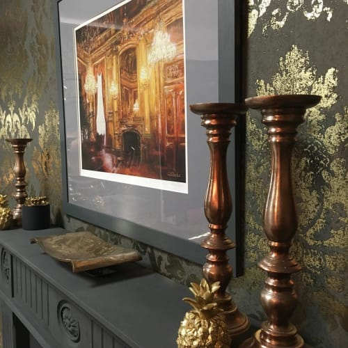 """Paintings by Lesley Anne Derks seen at Private Residence, Falkirk - """"Parisian Chandeliers"""" Painting"""