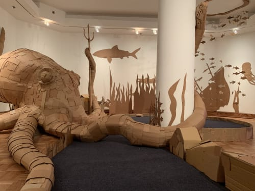 Sculptures by Justin King seen at The Sheldon Concert Hall and Art Galleries, St. Louis - Kraken's Cove