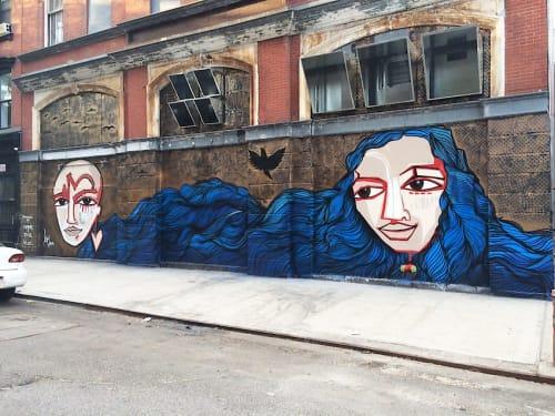 Street Murals by Alice Mizrachi seen at La Mama Experimental Theatre Club, New York - The Journey Mural