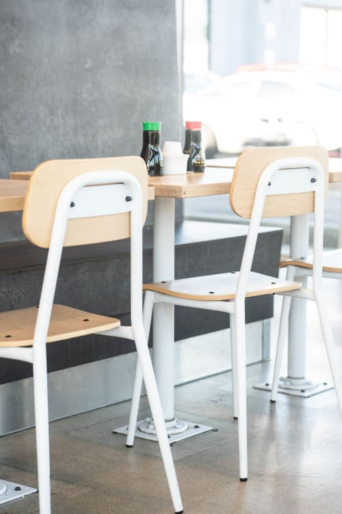 Chairs by Crow Works seen at Little Eater, Columbus - Canteen Chair