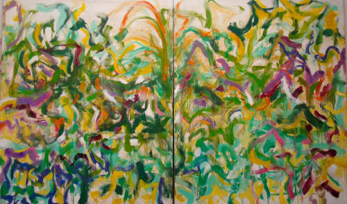 Paintings by Amadea Bailey at Private Residence, Brentwood, Los Angeles, CA, Los Angeles - Cornfields
