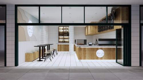 Interior Design by Studio Hiyaku seen at 11 Gerrale St, Cronulla - Waters Edge Cafe and Bar